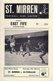 1960s St. Mirren Home programme