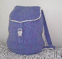 Crochet backpack free pattern.