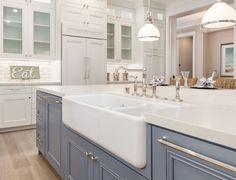Kitchen island quartz countertop. Kitchen island quartz countertop and farmhouse…