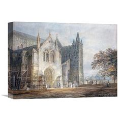 Global Gallery 'The North Porch of Salisbury Cathedral' by Joseph M.W. Turner Painting Print on Wrapped Canvas Size: