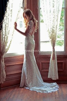 ivy and aster wedding dress Bridal Gowns, Wedding Gowns, Lace Wedding, Dream Wedding, Wedding Day, Lace Bride, Backless Wedding, Wedding Pics, Spring Wedding