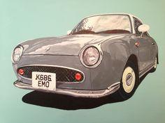 Nissan Figaro - acrylic on canvas