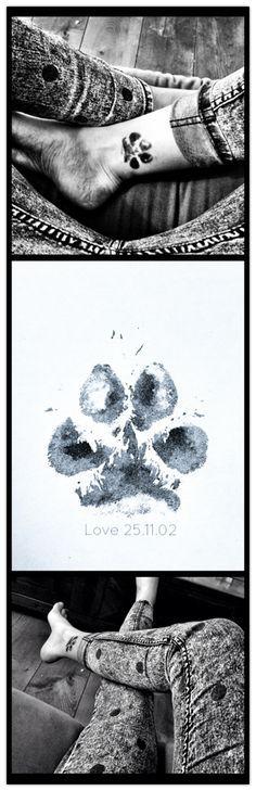 Paw of my dog #tattoo #pim #love #11years