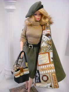 *Winter Mink*  Vintage  Barbie  Silkstone Fashion Royalty Poppy Parker  OOAK