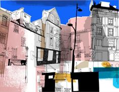 paris illustration architecture urban