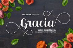 Beautiful ms. Gracia from FontBundles.net