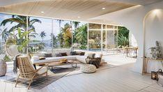 Vastu Villa on Behance Modern Tropical, Tropical Houses, Villa Design, Patio Furniture Sets, Staircase Design, Modern Interior Design, Decoration, Modern Architecture, Outdoor Decor