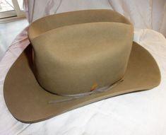 b9dcb69bd018d Vintage Stetson Hat 7 1 8 -3X Beaver Slvr Belly Rawl ns w Box-Hat Form USA  Minty  Stetson