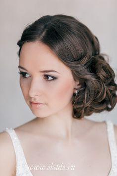 Elegant Curled Side-Updo | Feminine Bridal Hair