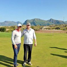 Golf star Suzann Pettersen at Lofoten Golf Links in Lpga Tour, Visit Norway, Midnight Sun, Lofoten, Golf Courses, Tours, Instagram Posts, Islands, Star