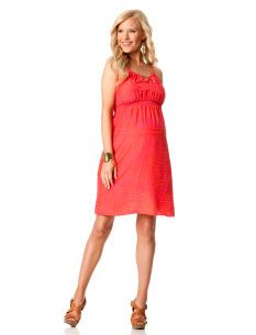 Liquid by Nell Couture Sleeveless Halter Maternity Dress