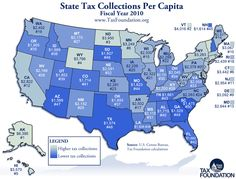 State tax collections per capita