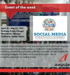 Event of the week! SMS Summit, April 29- May 01 2014, Chicago