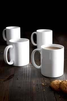 Buy Set Of 4 Large White Mugs from the Next UK online shop