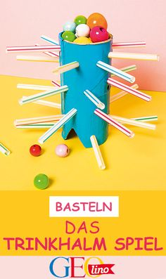 Crafts: The straw game - Spiele - fun craft Diy Crafts To Do, Paper Crafts For Kids, Upcycled Crafts, Diy For Kids, Easy Crafts, Easy Diy, Stampin Up, Diy Games, Mason Jar Crafts
