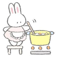 Fluffy Bunny, Bunny Bunny, The Masterpiece, Line Sticker, Cartoon Pics, Kawaii Cute, Cute Icons, Aesthetic Anime, Hello Kitty