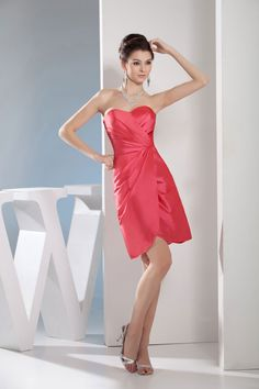 Sweetheart Sleeveless Length Taffeta Zipper Ruched Bridesmaid Dress