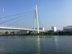 戸田のレースコース。 東京オリンピックの会場だ。 Race course at Toda, 1964Tokyo Olympic Games