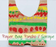 Cinco de Mayo party ideas: Paper Bag Sarape craft   Learn Create Love