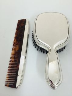 Love this classic, Gorham, sterling man's brush and comb set for the man in your life! www.gryphonestatesilver.com