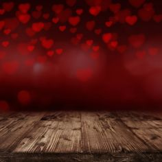 Valentines Day Retro Wood Floor Photography by katehome2014