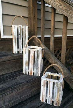 Rustic Lanterns from scrap wood