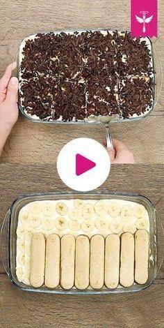 Bananen-Tiramisu ist eine leckere Abwandlung des italienischen Dessert-Klassikers. Banane und Bananenlikör, eine Creme aus Mascarpone und süßer Löffelbiskuit sorgen für Suchtpotenzial. #Bananentiramisu #Tiramisu #Dessert #Bananen