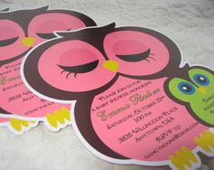 Owl Baby Shower Invitations.