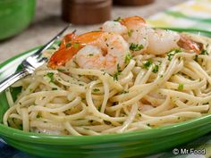 Restaurant Style Shrimp Scampi | mrfood.com white wine and olive oil with shrimp and garlic