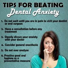 Tips for beating dental anxiety