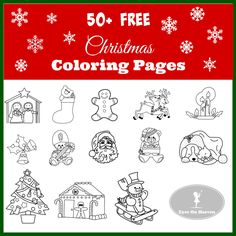 Free Christmas Coloring Pages to print for your kids! Nativities, Santas, snowmen, carolers, trees, wreaths, stockings and more fun holiday coloring pages!