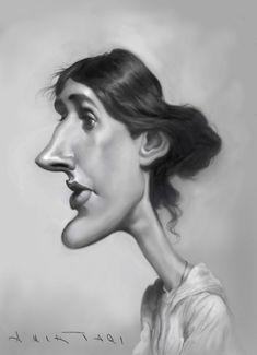 Virginia Woolf By Amir Taqi | Famous People Cartoon | TOONPOOL