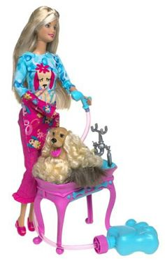 Barbie and dog