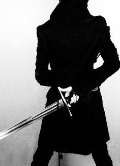sword, black, and fantasy image