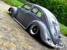 50s split window VW bug slammed!- Nice!