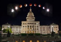 The image was taken by Mark Ezell on April 15, 2014  over the Capitol building in Austin, Texas.