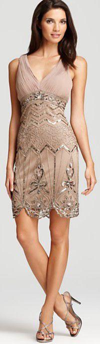 Sue Wong Beaded Sleeveless Dress