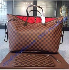 3389987c3f2c Louis Vuitton Damier Ebene Neverfull GM N41357  Louisvuittonhandbags  Neverfull Gm