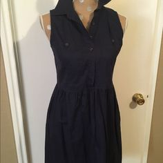 Navy Blue Button Front Dress Navy Blue Button Front Dress Shade Dresses Midi