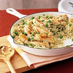 Green Rice with Chicken, Peas and Almonds | Rachael Ray Every Day