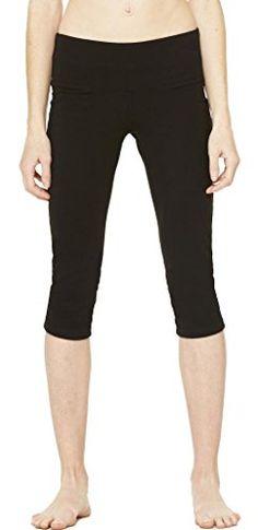 cool Ladies Fitness Capri Leggings, Small Black