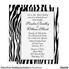 Zebra Print Wedding