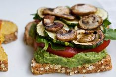 High Protein & Oil-Free Basil Pesto  by Angela Liddon  Prep Time: 10 mins  Cook Time: 0  Keywords: raw no bake food processor appetizer entree sandwich snack summer vegetarian vegan sugar-free soy-free nut-free gluten-free