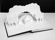 Peter Dahmen - Paper design by Peter Dahmen takes pop-up cards to the next level. From far-reaching architectural sculptures to pretty scenic villes, these paper . Kirigami, Cultura Maker, Arte Pop Up, Origami Wedding Invitations, Diy Paper, Paper Crafts, Pop Up Karten, Libros Pop-up, Paper Engineering