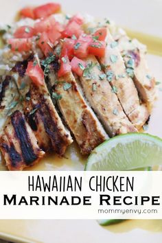 This Hawaiian Chicken Marinade Recipe is a tangy mixture of fruit juices and coconut milk. Great combination of flavor. Perfect for grilling and healthy!