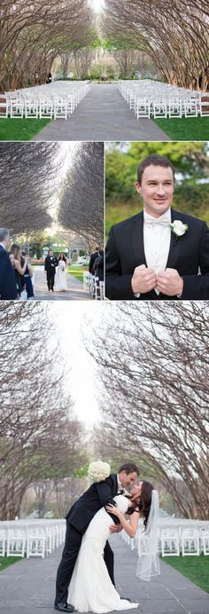 Dallas Arboretum, Garden Wedding, Crape Myrtle Allee, Garden, In Bloom, Wedding