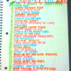 My best friend and I made a bucket list this year:)