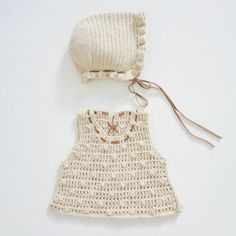 #Conjunto #reciénnacido #newborn #ganchillo #crochet #algodon #cotton
