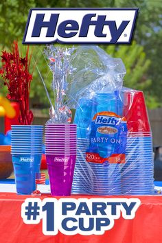 Save time on cleanup at your next party with these durable Hefty® Party Cups Sonic Birthday, Frozen Birthday Party, Birthday Board, 10th Birthday, Girl Birthday, Birthday Parties, Alien Party, Troll Party, Angel Baby Shower