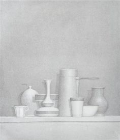"""William Bailey, American, 1930-  """"Untitled"""" (Still Life), 1976 Etching and Aquatint Signed in pencil and numbered 41/50 13 7/8"""" x 11 3/4"""""""